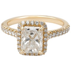 James Allen Radiant Diamond Ring in 14 Karat Gold GIA E VS2 1.91 Carat