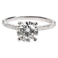 James Allen Round Cut Diamond Engagement Ring in Platinum AGS I VVS2 1.70 Carat