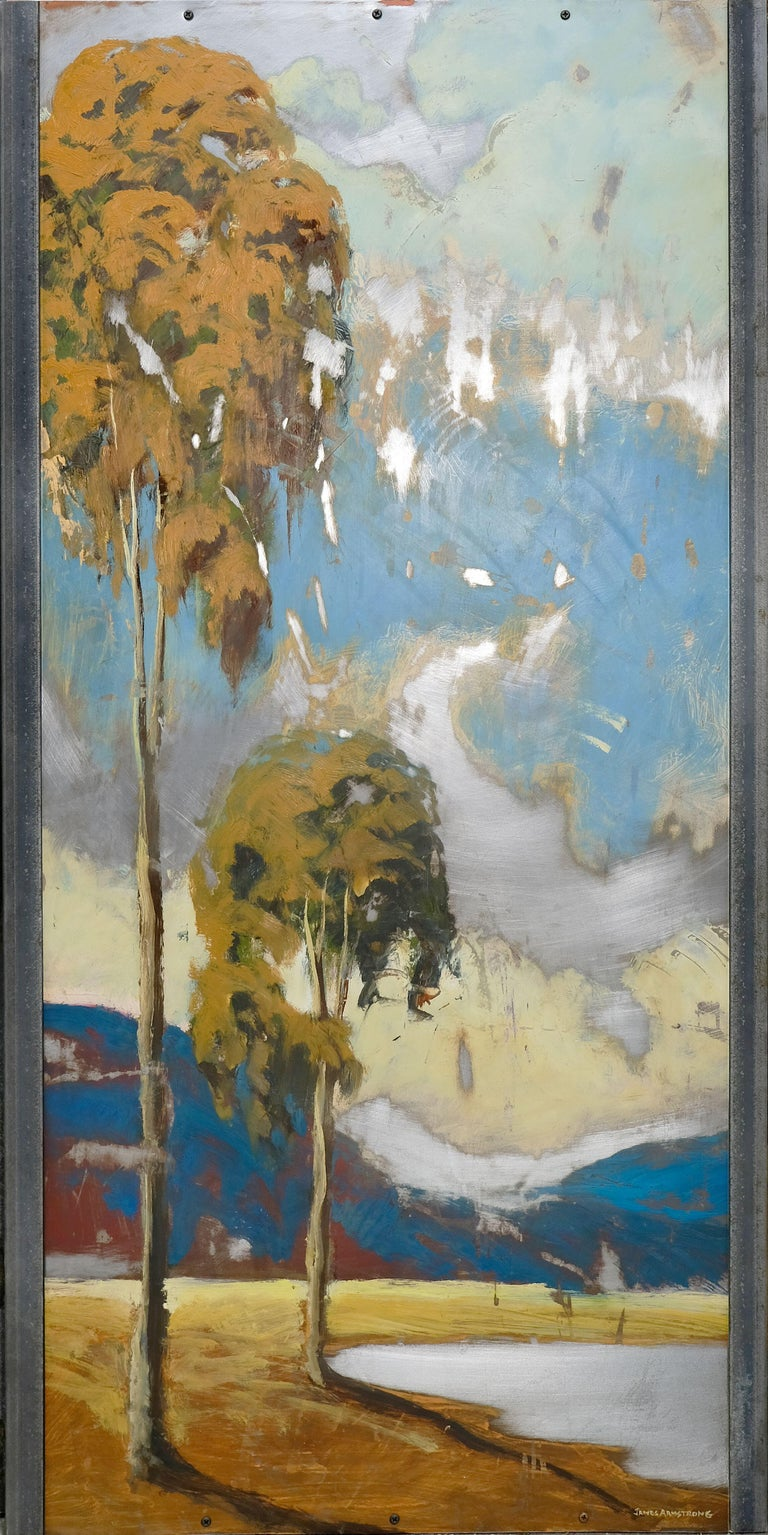James Armstrong Landscape Painting - Steel Sky