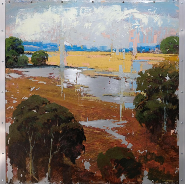 James Armstrong Landscape Painting - Streamside