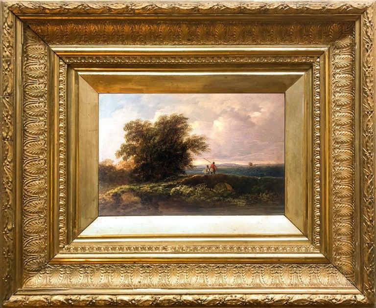 Circle of James Arthur O'Connor (1792-1841) Father and son fishing  - Painting by James Arthur O'Connor