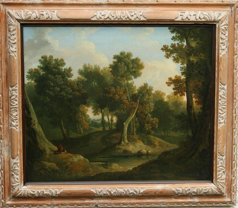 James Arthur O'Connor Landscape Painting - Wooded Landscape Solitude - Irish Painter art oil painting woodland