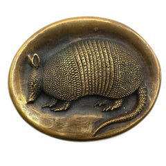 James Avery Sculptural Bronze Nine-Banded Texas State Armadillo Belt Buckle