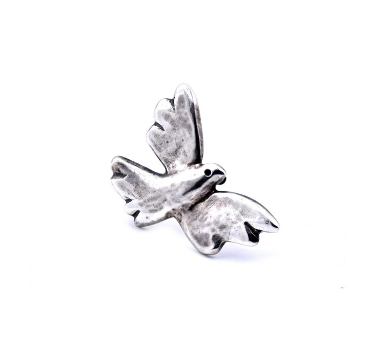 James Avery Sterling Silver Bird Pin In Excellent Condition For Sale In Scottsdale, AZ