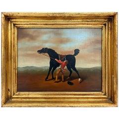 James B. Woods English Horse Painting