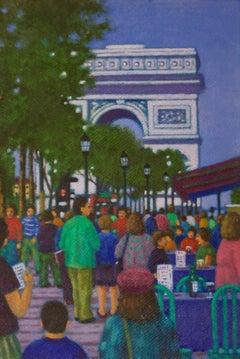 Arc de Triomphe Paris - Late 20th Century Impressionist Oil by James B. Woods
