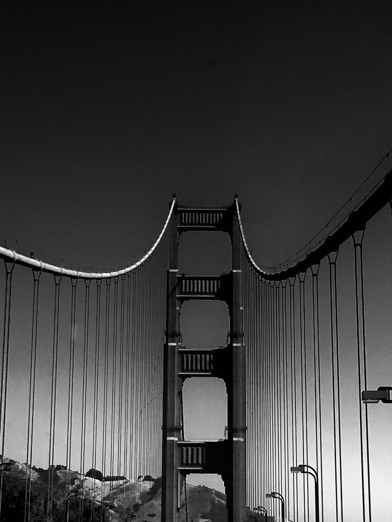 James Bacchi Black and White Photograph - #InTheSky San Francisco Golden Gate Bridge