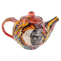James Baldwin Teapot in Glazed Stoneware by Roberto Lugo