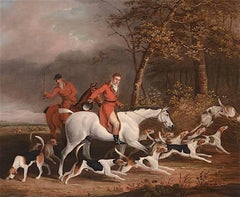 Lord Derby's Foxhounds, A English Hunting Scene  by James Barenger