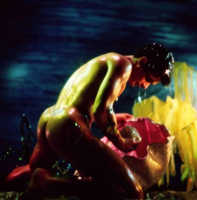 James Bidgood Figurative Photograph - Pearl, Water Colors