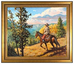 Buckeye James C Blake Original Oil Painting On Canvas Signed Western Landscape