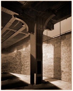High Line: Column (Sepia Toned Architectural Photograph in Manhattan)