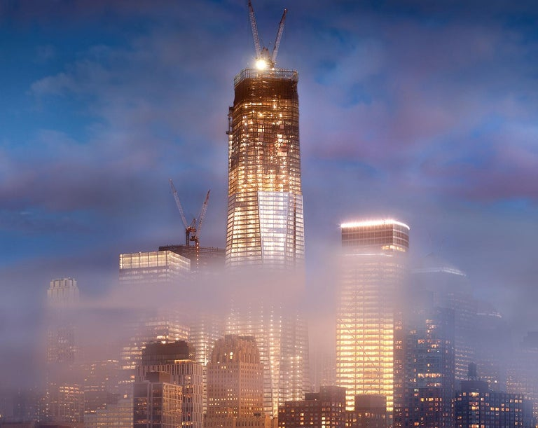One World Trade Center #11 (Freedom Tower at Night viewed from Downtown) - Photograph by James Bleecker