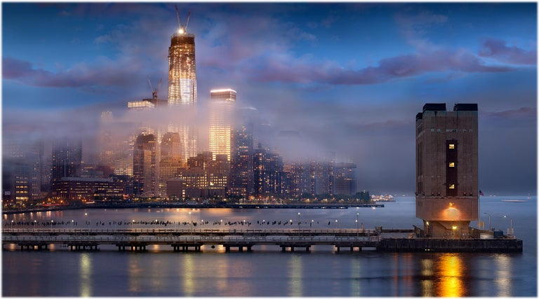 James Bleecker Color Photograph - One World Trade Center 11 (Panoramic Landscape Color Print of Freedom Tower)