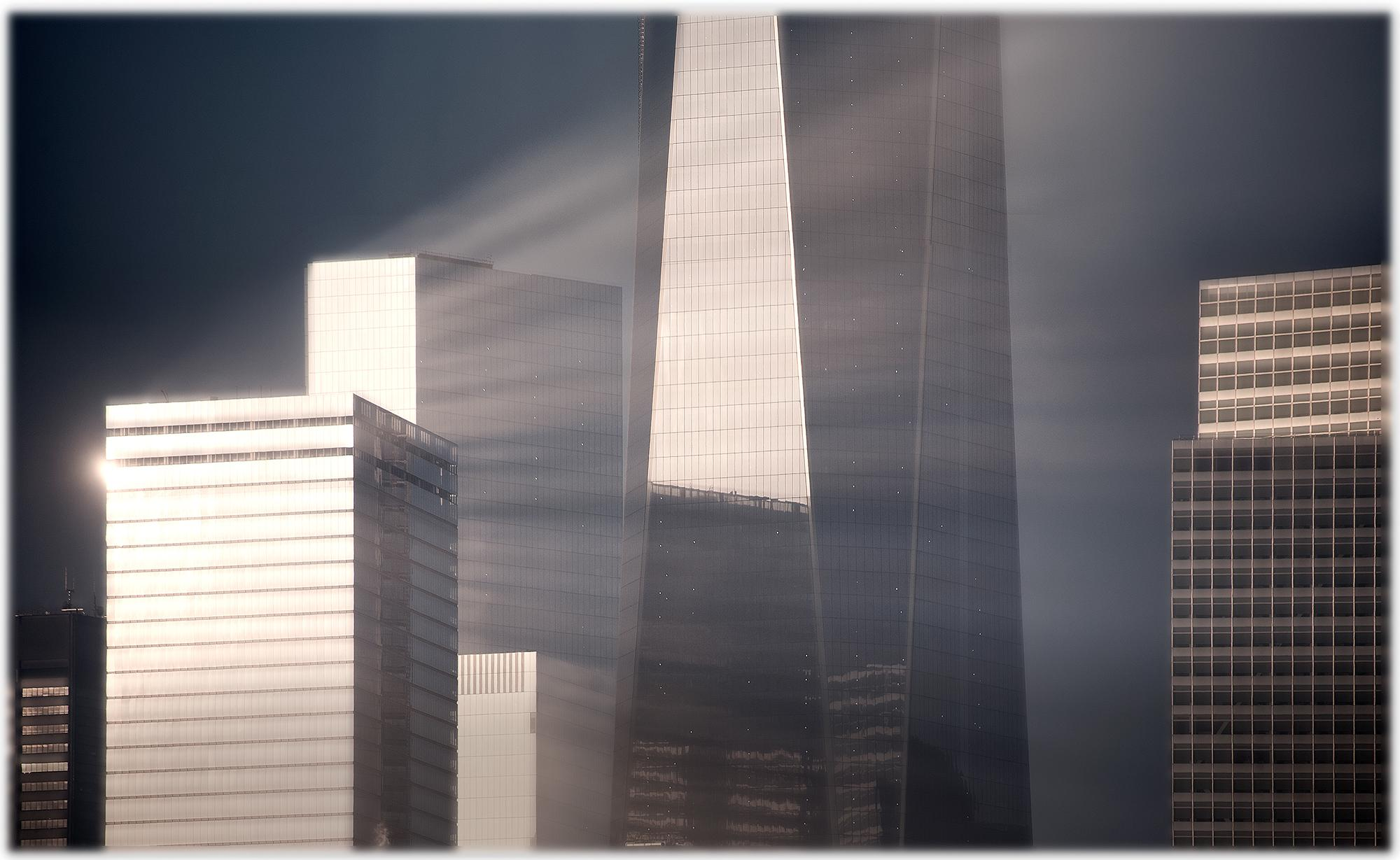 One World Trade Center 15 (Sunlit New York Freedom Tower, Color Cityscape Photo)