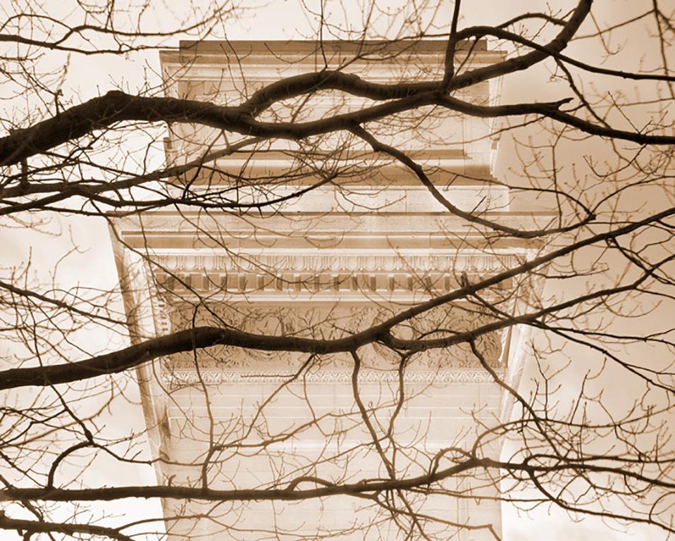 Washington Square Arch II (New York City Sepia Toned Print on Watercolor Paper)