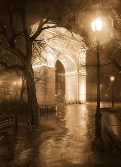 Washington Square Arch (New York City Sepia Toned Print on Watercolor Paper)