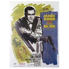 James Bond 007 Against Doctor No Sean Connery Original Vintage Poster