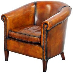 James Bond 007 Armchair from Spectre Leather Chairs of Bath Fully Restored