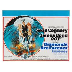 "James Bond ""Diamonds Are Forever"" Original Vintage Movie Poster, British, 1971"