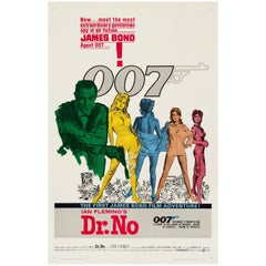 James Bond 'Dr. No' Original Vintage US One Sheet Movie Poster, 1962
