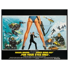 "James Bond ""For Your Eyes Only"" Original Vintage Movie Poster, British, 1981"