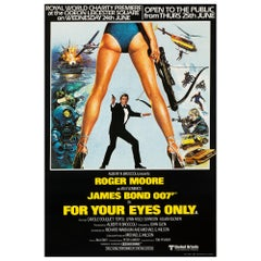 "James Bond ""For Your Eyes Only"" Royal Premiere Movie Poster, British, 1981"