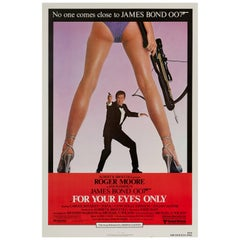 James Bond 'For Your Eyes Only' US Film Poster, 1981