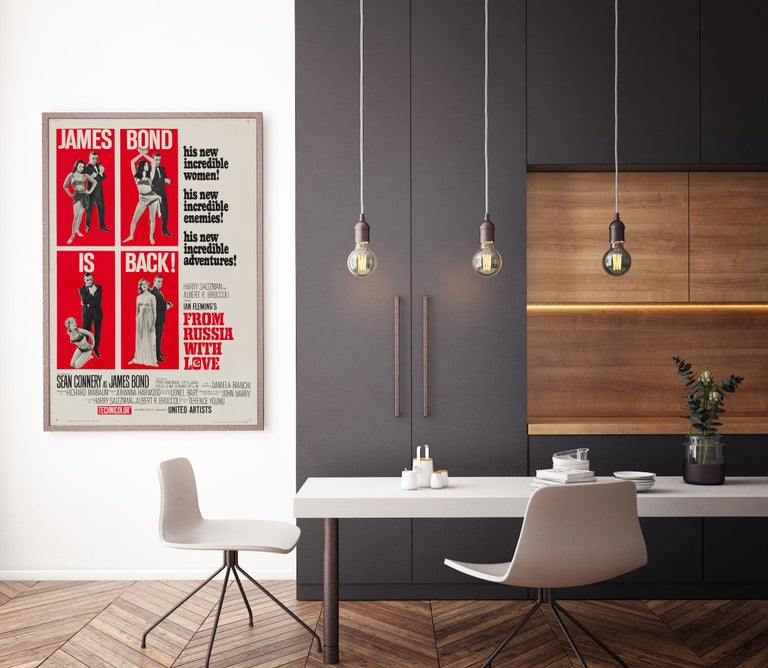 Post-Modern James Bond 'From Russia with Love' Original US One Sheet Movie Poster, 1964 For Sale