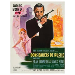 James Bond 'From Russia With Love' Vintage French Movie Poster by Grinsson, 1963