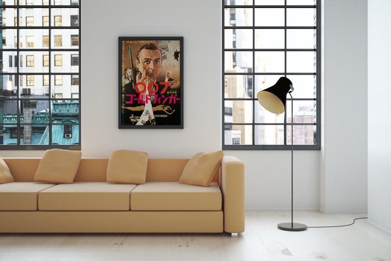 James Bond 'Goldfinger' Original Vintage Japanese Movie Poster, 1965 In Good Condition In Devon, GB