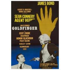 James Bond 'Goldfinger' Original Vintage Swedish Movie Poster, 1967