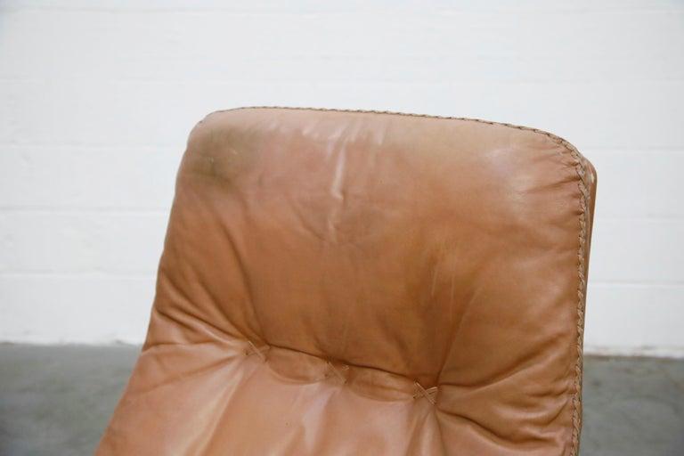 'James Bond' Model S-231 Swivel Lounge Armchair by De Sede, Switzerland, 1960s For Sale 3