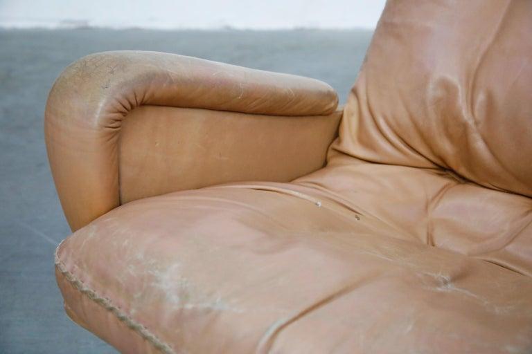 'James Bond' Model S-231 Swivel Lounge Armchair by De Sede, Switzerland, 1960s For Sale 4