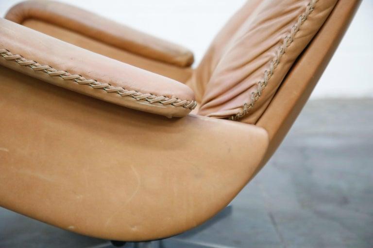 'James Bond' Model S-231 Swivel Lounge Armchair by De Sede, Switzerland, 1960s For Sale 7