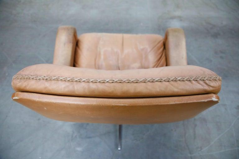 'James Bond' Model S-231 Swivel Lounge Armchair by De Sede, Switzerland, 1960s For Sale 13