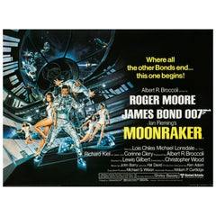 "James Bond ""Moonraker"" Original Vintage Movie Poster, British, 1979"