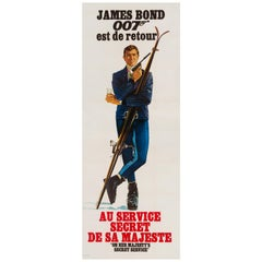 James Bond On Her Majesty's Secret Service Vintage French Movie Ski Poster, 1969