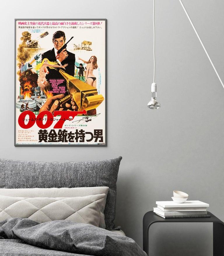 Post-Modern James Bond 'The Man with the Golden Gun' Original Movie Poster, Japanese, 1974 For Sale
