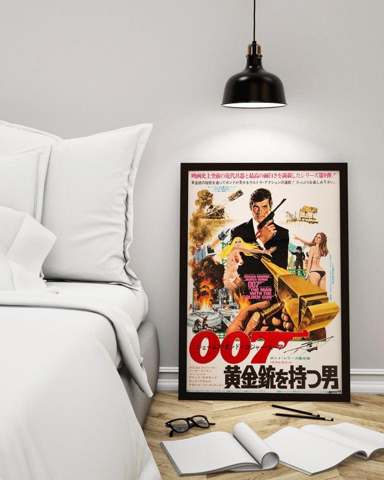 James Bond 'The Man with the Golden Gun' Original Movie Poster, Japanese, 1974 In Good Condition For Sale In Devon, GB