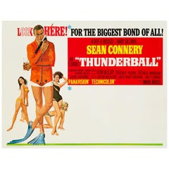 James Bond 'Thunderball' Original US Subway Movie Poster, 1965