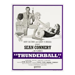 James Bond 'Thunderball' Original Vintage Movie Poster, British, 1973