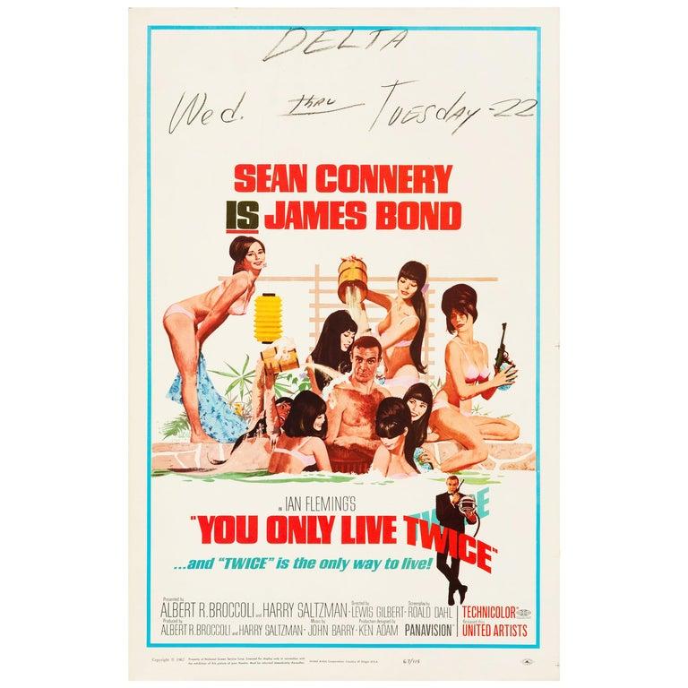 James Bond 'You Only Live Twice' Original Vintage Movie Poster, 1967 For Sale