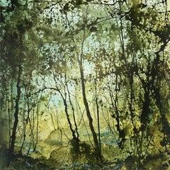 James Bonstow, Greenway, Original Woodland Landscape Painting, Affordable Art