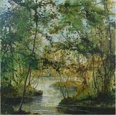 James Bonstow, River Dart 2, Original Landscape Painting, Contemporary Art