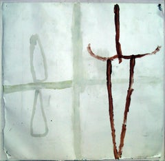 Untitled - Original Mixed Media on Leather by James Brown - 1987