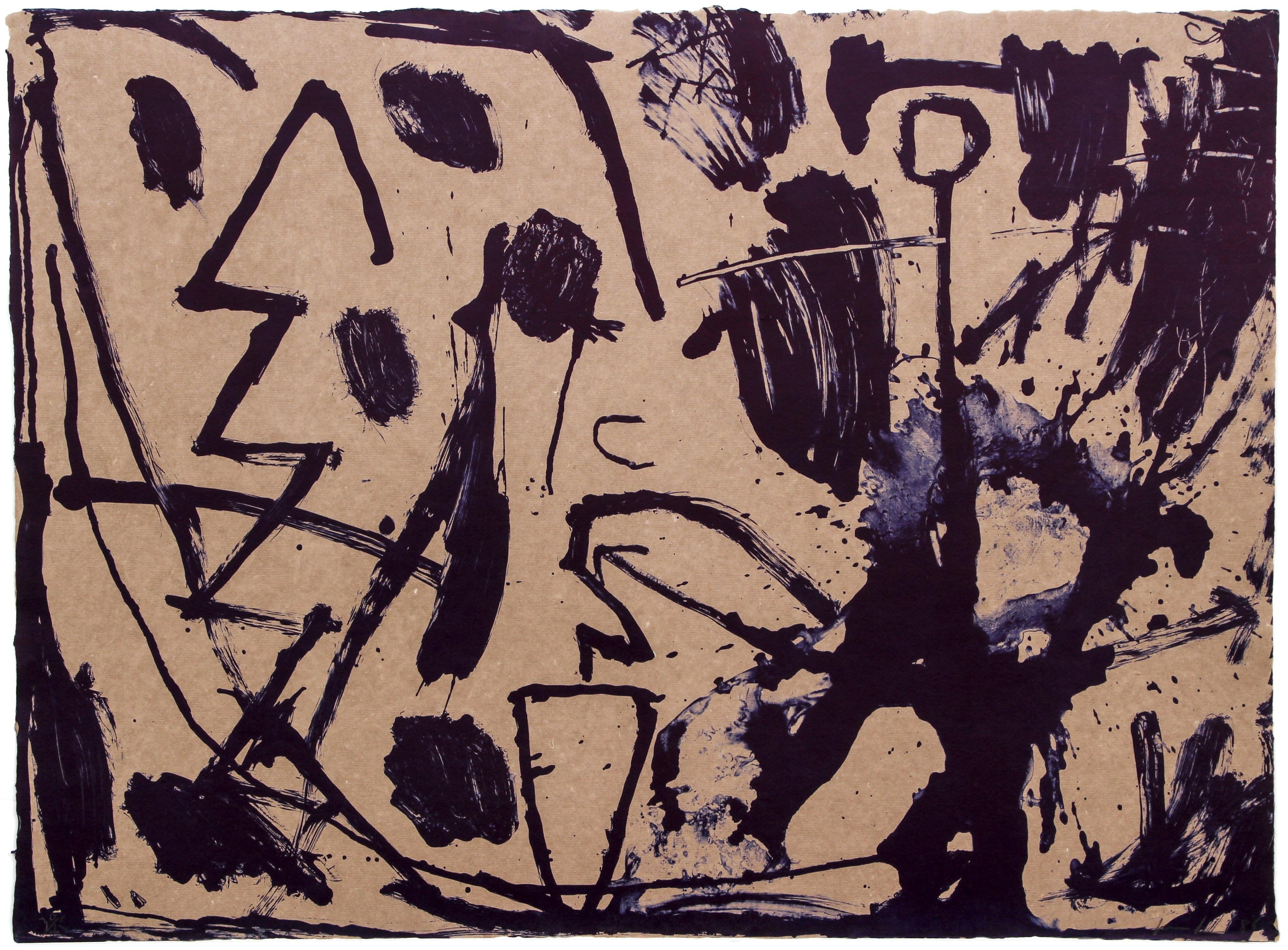 Abstract Expressionist Lithograph from Bill T. Jones Portfolio by James Brown