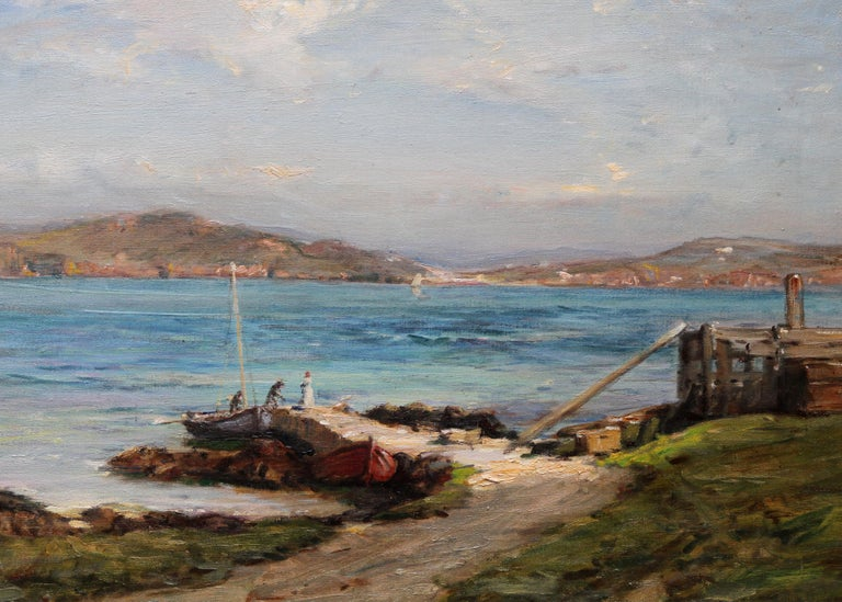 The Ferry Iona - Scottish Edwardian Impressionist art seascape oil painting  For Sale 2