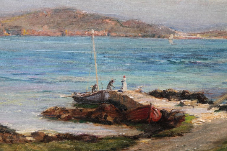 The Ferry Iona - Scottish Edwardian Impressionist art seascape oil painting  For Sale 3