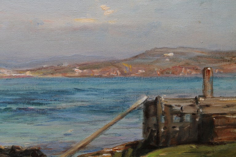 The Ferry Iona - Scottish Edwardian Impressionist art seascape oil painting  For Sale 4